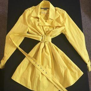 Kenneth Cole Yellow Rain Jacket